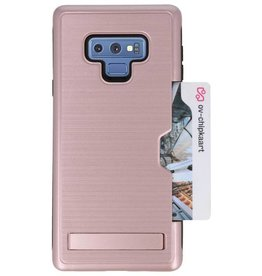 Tough Armor Card Stand Stand Case for Note 9 Rose Gold