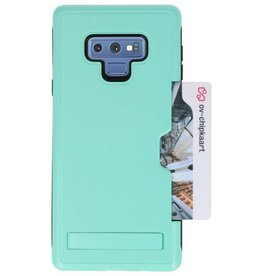 Tough Armor Kaarthouder Stand Hoesje voor Note 9 Turquoise