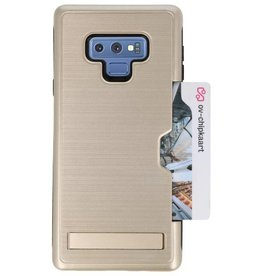 Tough Armor Card Stand Stand Case for Note 9 Gold
