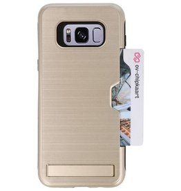 Tough Armor Card Stand Stand Case for Galaxy S8 Plus Gold