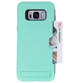 Tough Armor Kaarthouder Stand Hoesje voor Galaxy S8 Plus Turquoise