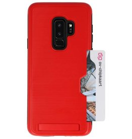 Tough Armor Card Stand Stand Case for Galaxy S9 Plus Red