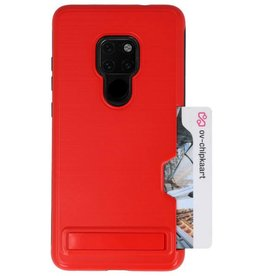 Tough Armor Card Stand Stand Case for Mate 20 Red