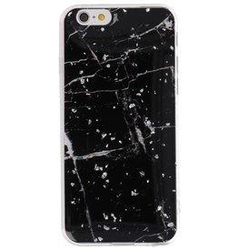 Hardcase für iPhone 6 Marmor Schwarz drucken