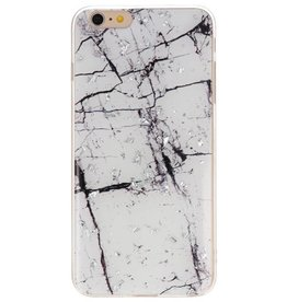 Print Hardcase voor iPhone 6 Plus Marble Wit