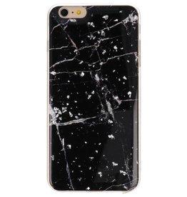 Print Hardcase voor iPhone 6 Plus Marble Zwart