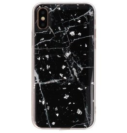 Print Hardcase for iPhone X / XS Marble Black