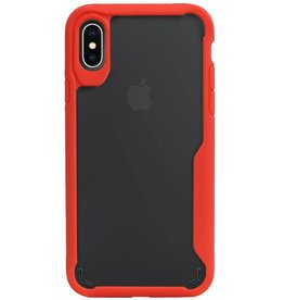 Focus Transparent Hard Cases for iPhone X / XS Red