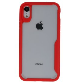 Focus Transparent Hard Cases for iPhone XR Red