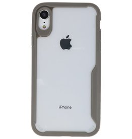 Focus Transparent Hard Cases for iPhone XR Gray