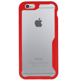 Focus Transparant Hard Cases voor iPhone 6 Rood