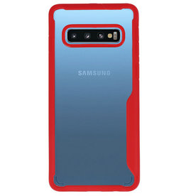 Focus Transparant Hard Cases voor Samsung Galaxy S10 Rood