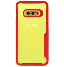 Focus Transparent Hard Cases for Samsung Galaxy S10e Red