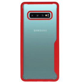 Focus Transparent Hard Cases for Samsung Galaxy S10 Plus Red
