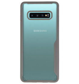 Focus Transparant Hard Cases voor Samsung Galaxy S10 Plus Grijs