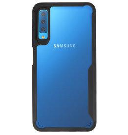 Focus Transparent Hard Cases für Samsung Galaxy A7 2018 Schwarz