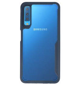 Focus Transparant Hard Cases voor Samsung Galaxy A7 2018 Navy