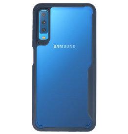 Focus Transparent Hard Cases für Samsung Galaxy A7 2018 Navy