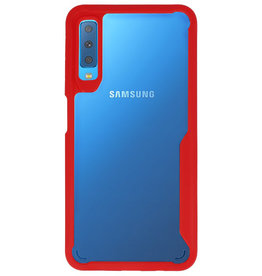 Focus Transparent Hard Cases for Samsung Galaxy A7 2018 Red