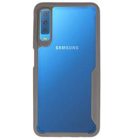 Focus Transparant Hard Cases voor Samsung Galaxy A7 2018 Grijs