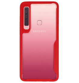 Focus Transparant Hard Cases voor Samsung Galaxy A9 2018 Rood