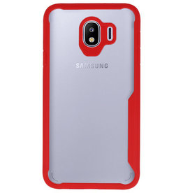 Focus Transparant Hard Cases voor Samsung Galaxy J4 Rood