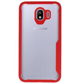 Focus Transparent Hard Cases für Samsung Galaxy J4 Red