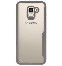 Focus Transparant Hard Cases voor Samsung Galaxy J6 Grijs
