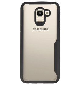 Focus Transparant Hard Cases voor Samsung Galaxy J6 Zwart