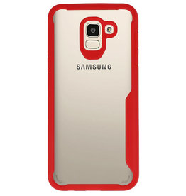 Focus Transparant Hard Cases voor Samsung Galaxy J6 Rood
