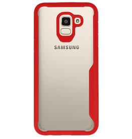 Focus Transparent Hard Cases für Samsung Galaxy J6 Red