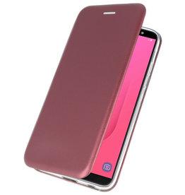 Slim Folio-Hülle für Samsung Galaxy J8 2018 Bordeauxrot