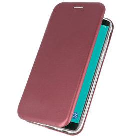 Slim Folio-Hülle für Samsung Galaxy J6 2018 Bordeauxrot