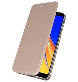 Slim Folio Case voor Samsung Galaxy J4 Plus Goud