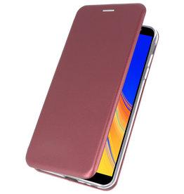 Slim Folio Case voor Samsung Galaxy J4 Plus Bordeaux Rood