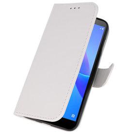 Bookstyle Wallet Cases Hoesje voor Huawei Y5 Lite 2018 Wit