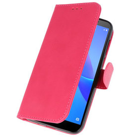 Bookstyle Wallet Cases Fall für Huawei Y5 Lite 2018 Pink