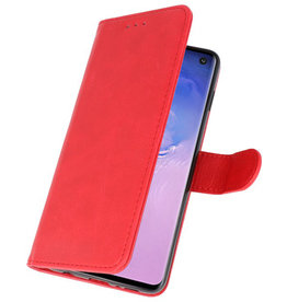 Bookstyle Wallet Cases Case for Samsung S10 Red