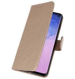 Bookstyle Wallet Cases Case for Samsung S10 Gold