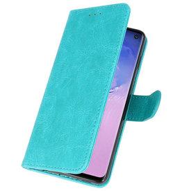 Bookstyle Wallet Cases Hoesje voor Samsung S10 Groen