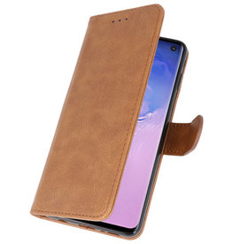 Bookstyle Wallet Cases Case for Samsung S10 Brown