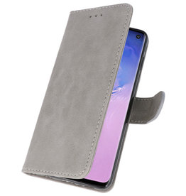 Bookstyle Wallet Cases Case for Samsung S10 Gray