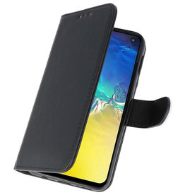 Bookstyle Wallet Cases für Samsung S10e Schwarz
