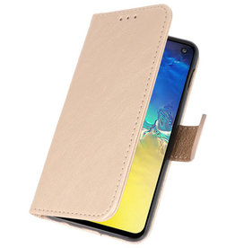 Bookstyle Wallet Cases Case for Samsung S10e Gold