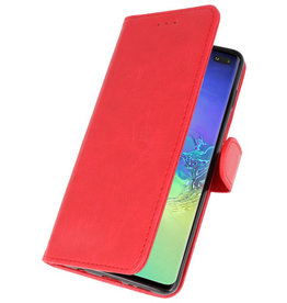 Bookstyle Wallet Cases Case for Samsung S10 Plus Red
