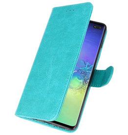 Bookstyle Wallet Cases Hoesje voor Samsung S10 Plus Groen