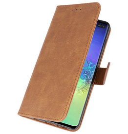 Bookstyle Wallet Cases Case for Samsung S10 Plus Brown