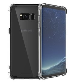 Shockproof transparent TPU case for Galaxy S8 Plus with packaging