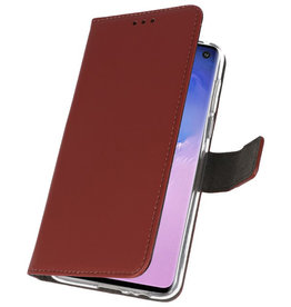 Wallet Cases Case for Samsung Galaxy S10 Brown