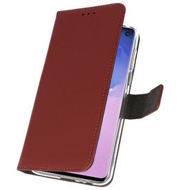 Wallet Cases Hoesje voor Samsung Galaxy S10 Bruin